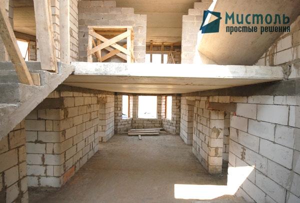Загородный 2-х этажный коттедж с подвалом, общей площадью 320 м2 - Перекрытие между этажами.