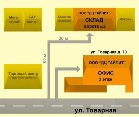 Схема проезда в городе Самара.