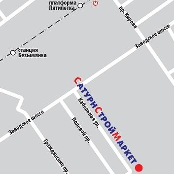 Схема проезда к офису компании Сатурн в г. Самара по ул. Кабельной.